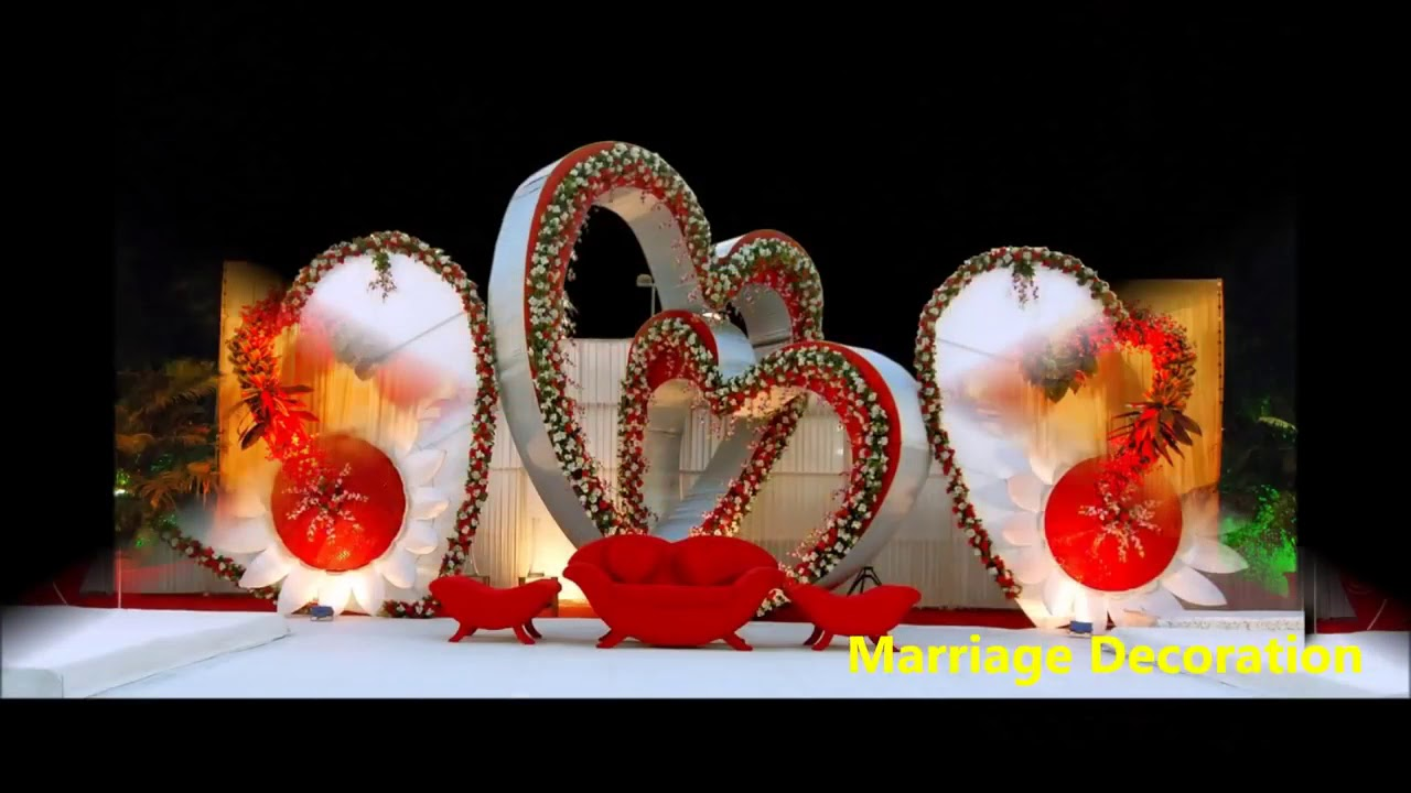 Heart Shape Wedding Stage Decoration Theme 100 Marriage Stage