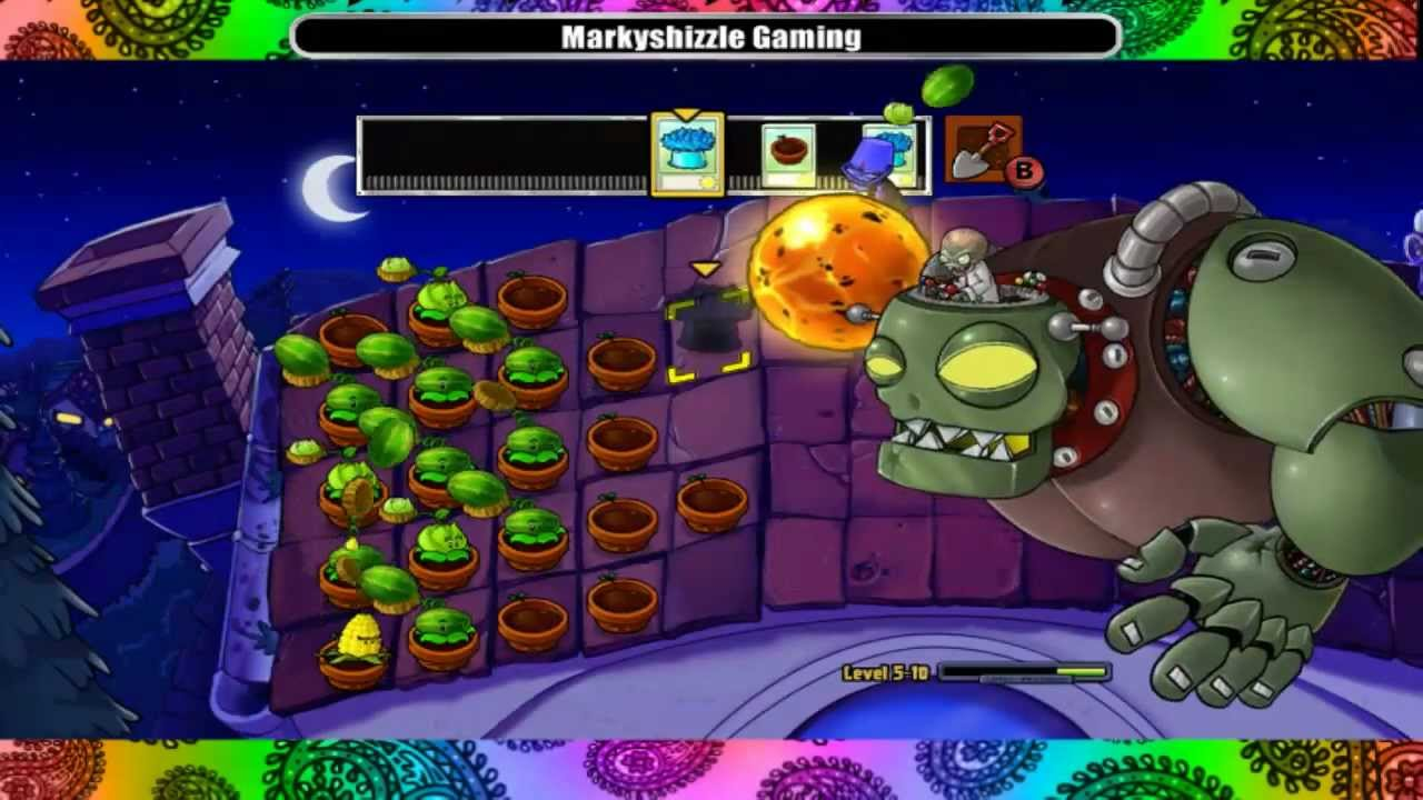 Plants Vs Zombies Final Boss Battle Dr Zomboss Rooftop