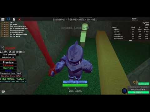 Roblox Infinity RPG Unlimited XP glitch/hack {18/02/2018} WORKING