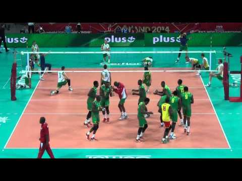 Cameroon's Volleyball Team - full of passion warm-up