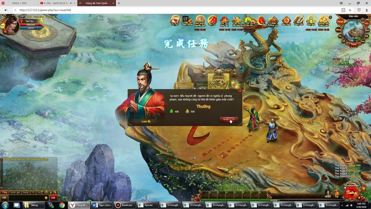 [Release] Hùng Bá Tam Quốc – Webgame – Việt Hóa 90%