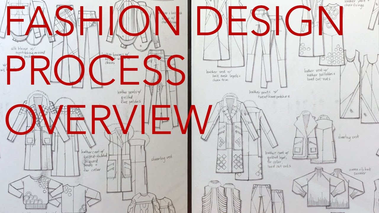 Fashion Design Tutorial 1 Design Process Overview Youtube