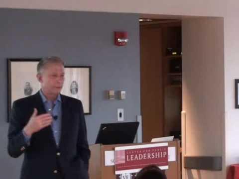 Werner Erhard speaks to Kennedy School students