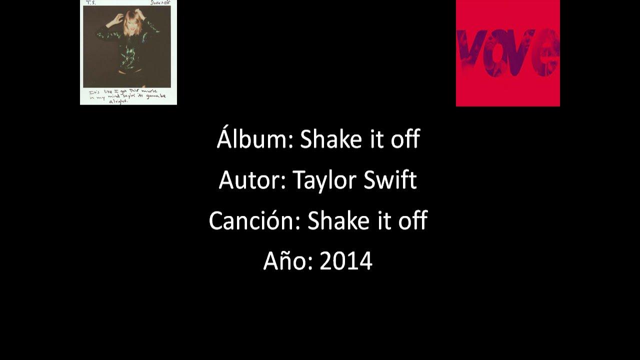 Taylor Swift -Shake it off [Lyrics - Letra] - YouTube