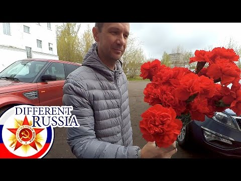 Russia: Provincial Flower Base & Local Cemetery in Moscow Region on Victory Day 2017