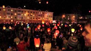 Небесные фонарики в Новоуральске