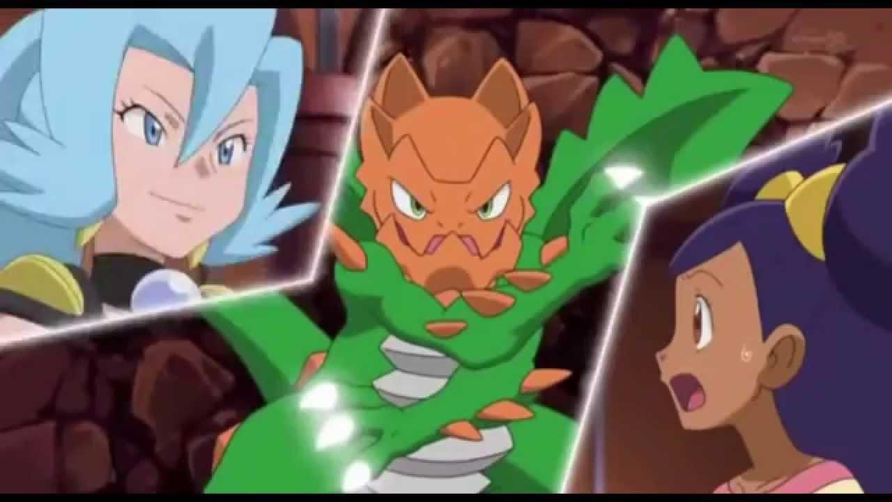 Pokemon Iris vs Clair. Dragonite vs Druddigon. (Music ...