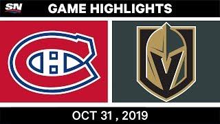NHL Highlights   Canadiens vs Golden Knights – Oct. 31, 2019