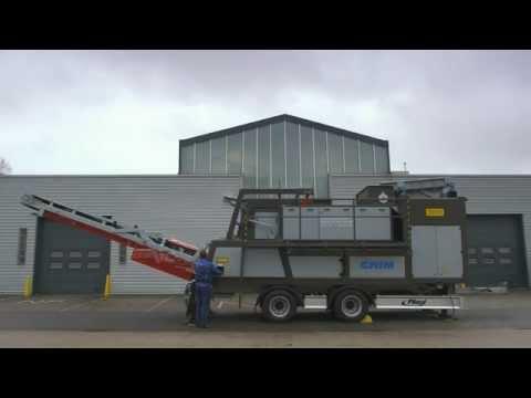 Goudsmit Mobile 38HI Eddy Current Separator (instruction movie)