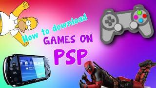 КАК скачивать игры на PSP (без прошивки)!
