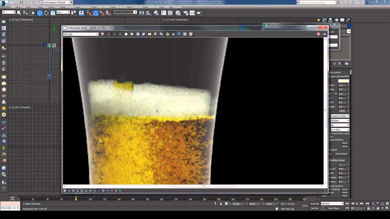 Phoenix FD - Beer Simulation Tutorial Part 2