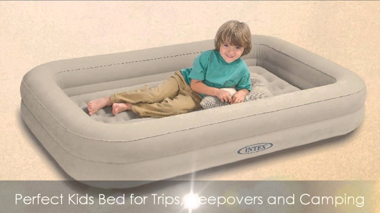 Intex Kidz Travel Bed with Hand Pump   YouTube