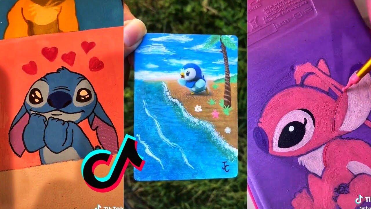 People Painting Things on TikTok for 7 Minutes Straight Part 6 | Tik Tok Art