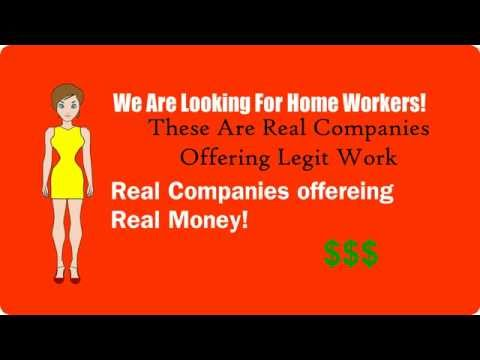 Work From Home Opportunities-Legitimate Work From Home Jobs