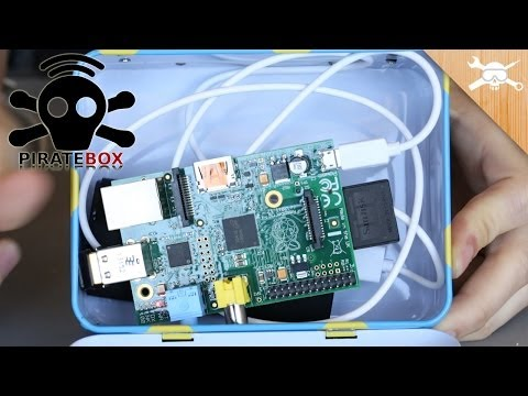 Raspberry Pi PirateBox For Anonymous File Swapping