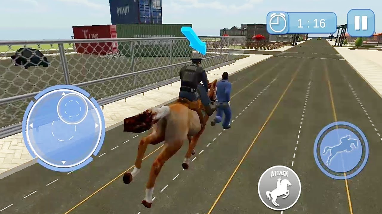 Police Horse Chase Crime Town Game Horse Racing Games Kids Games Youtube