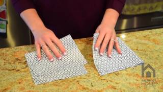 Reusable Antibacterial Cloth Cut In Half Demo - Natural Home Brands