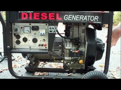 Запуск дизельного генератора на 6 кВт