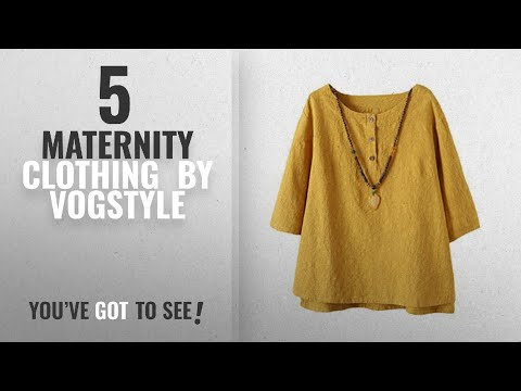 Top 10 Vogstyle Maternity Clothing [2018]: Vogstyle Women's New Cotton Linen Tunic Tee Shirt