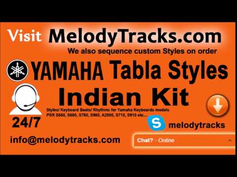 Teri Kripa Teri Daya   Yamaha Tabla Styles   Indian Kit    PSR S550, S650, S750, S950, A2000, S710,