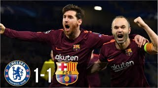 Chelsea Vs Barcelona 1-1 - All Goals & Highlights UCL 21/02/2018 HD