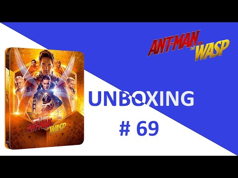 Unboxing / Déballage # 069 Ant-Man And The Wasp Lenticular SteelBook (Zavvi)