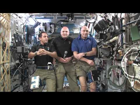 California Students Speak with Station Crew