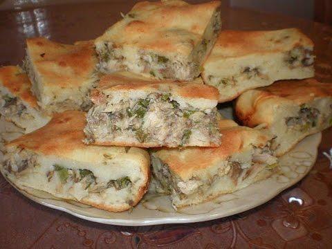 Простой и вкусный пирог с рыбной начинкой