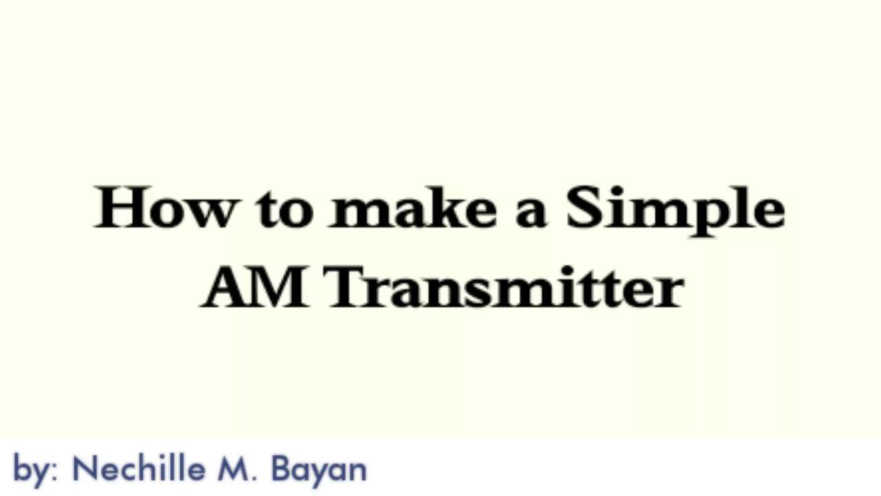 Am Transmitter Bayan Youtube Simple