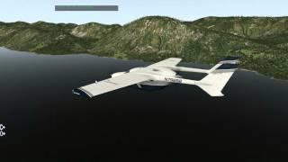 X plane 10 pousando carenado c337 skymaster v3 em congonhas