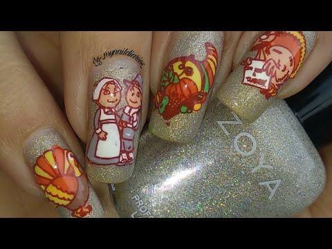 Thanksgiving Nail Art Tutorial!!! 🥧🦃🙏 thumbnail