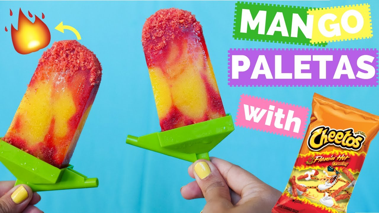 HOT CHEETOS MANGO POPSICLES! - La Cooquette - YouTube