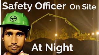 Night Shift Hazards at Construction Site