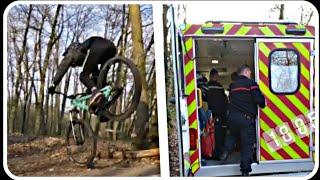 ÉNORME CRASH EN VTT !! +pompier