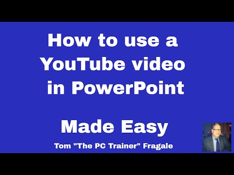 capturing a youtube video into powerpoint - how to add a Youtube video into PowerPoint presentation