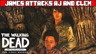 James Tries to Abduct AJ - THE WALKING DEAD SEASON 4 EPISODE 4