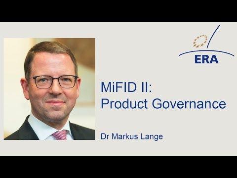 MiFID II: Product Governance