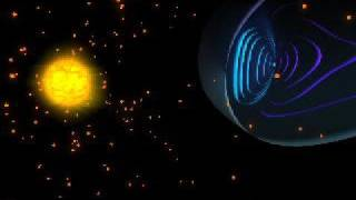 Solar Wind & Aurora animation