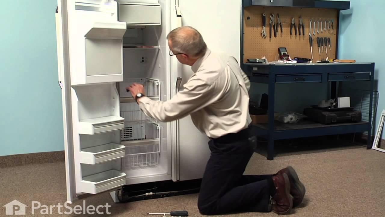 Whirlpool Refrigerator Repair >> Refrigerator Repair- Replacing the Shelf Support Stud Kit ...