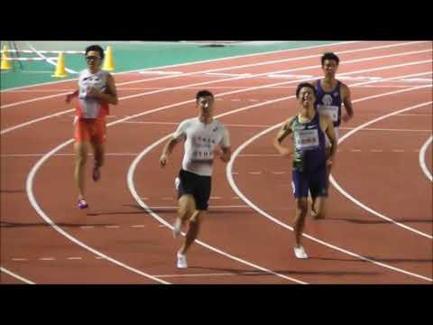 福井陸上9.98CUP 男子100m決勝 桐生選手出場