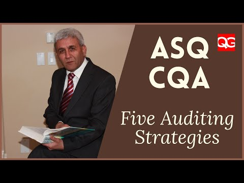 ASQ CQA - 2A6 Auditing Strategies