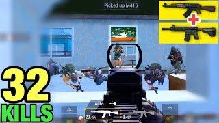 BEST LANDING IN POCHINKI | BEST MATCH WITH COMBO M416 + AKM | PUBG MOBILE