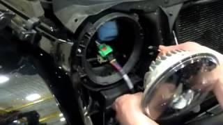 jeep wrangler jk j w speaker 8700 evolution led klarglas scheinwerfer einbau