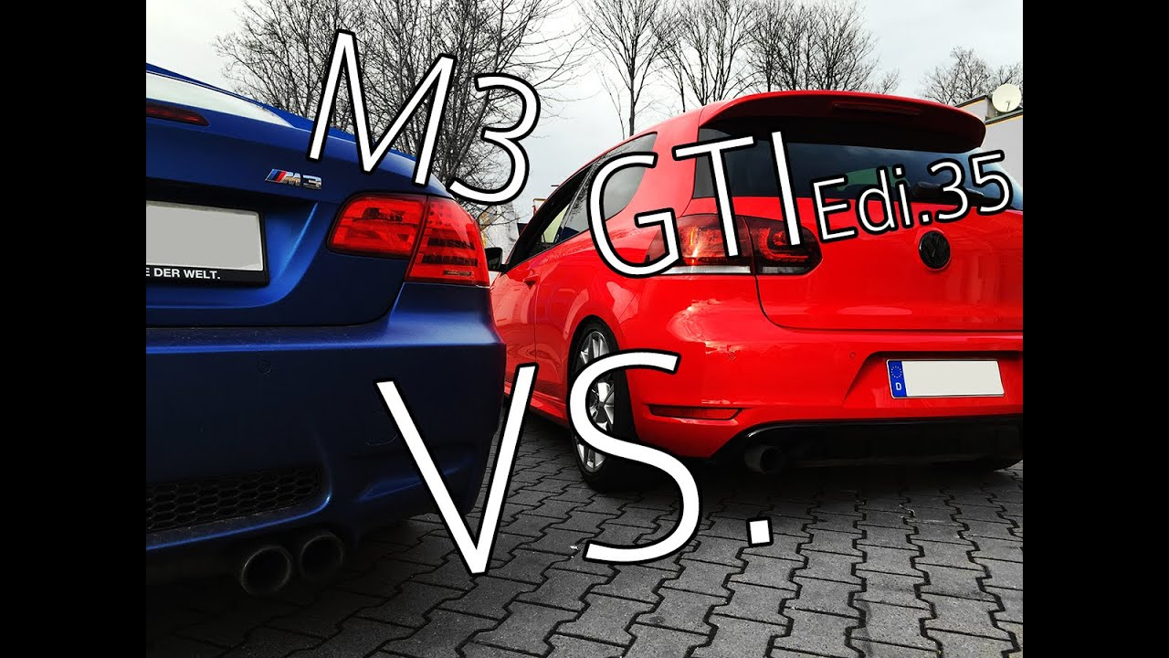 BMW M3 (e93) vs. VW Golf VI GTI Edition 35 stage II | www ...