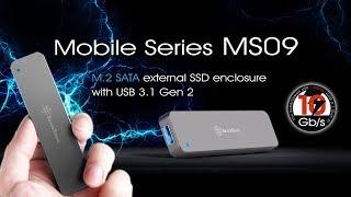SilverStone MS09 - M.2 SATA external SSD enclosure with USB 3.1 Gen 2