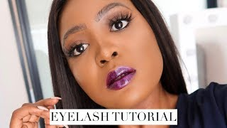 How To Apply False Eyelashes For Beginners | QUICK & EASY! | Thandi Gama