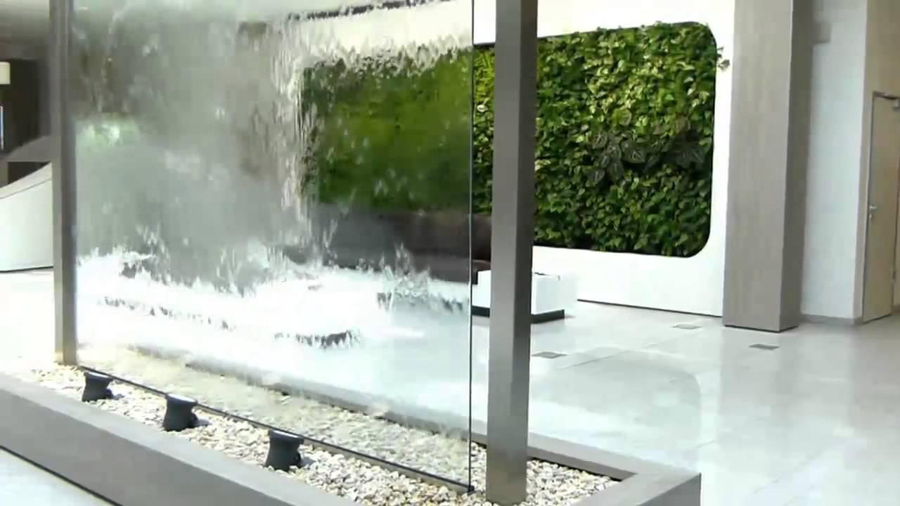 vip wasserwand glas 550cm hoch - youtube