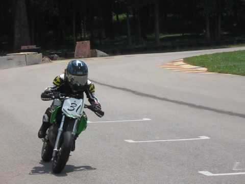 Mini Supermoto at VIR, 2nd race...8 yr old Kayla Yaakov...what an amazing talent!