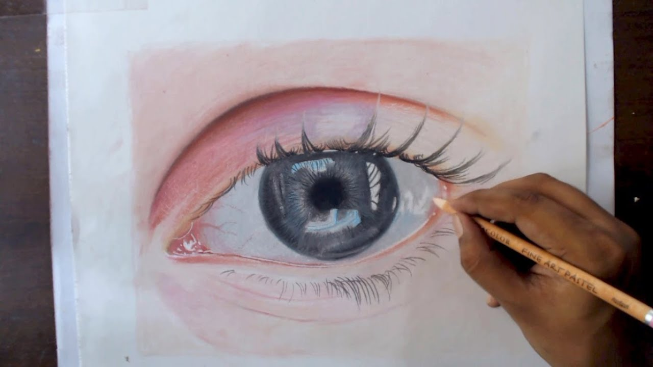Drawing an eye with pastel pencils timelapse youtube ccuart Images