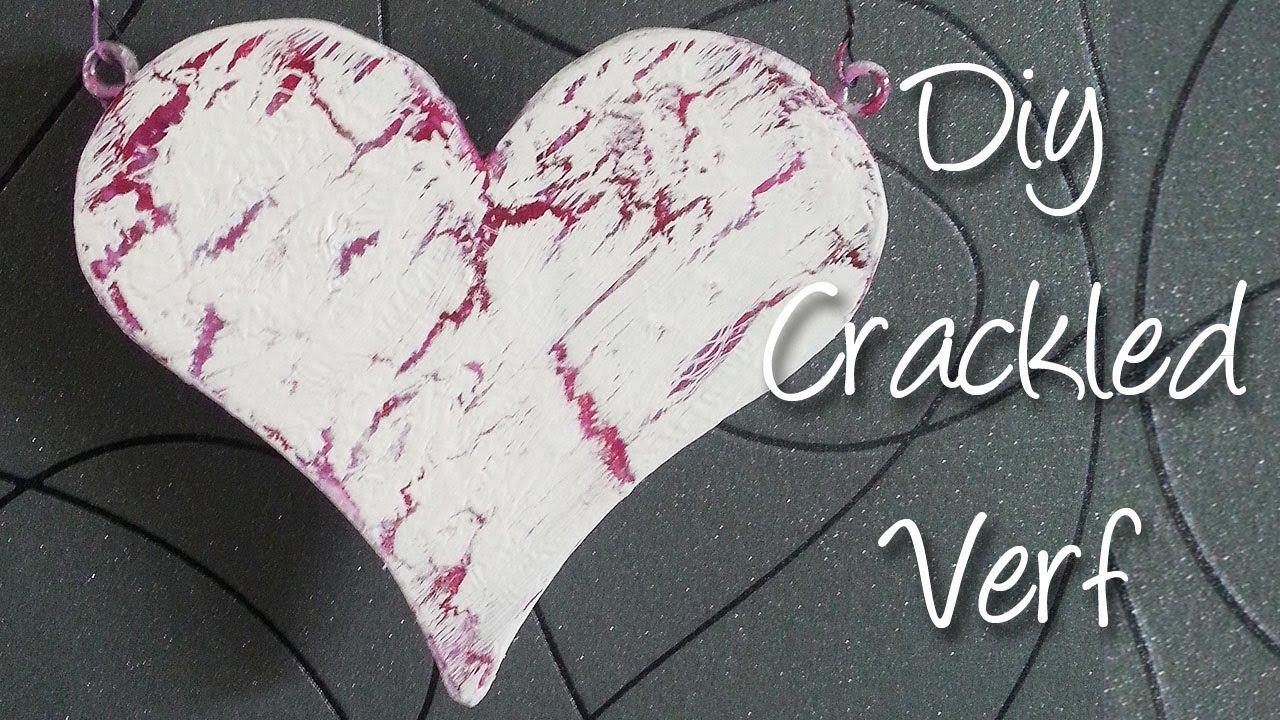 Diy maak zelf makkelijk crackle verf met een f hn en s doovi - Verf een ingang en een gang ...